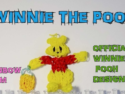 Con elastici rainbow loom WINNIE THE POOH official bear design