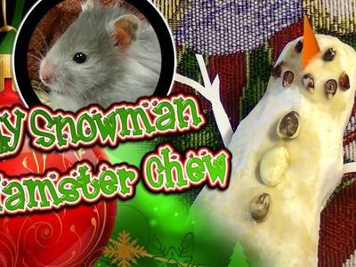 DIY Snowman Hamster Chew Toy (read desc.)