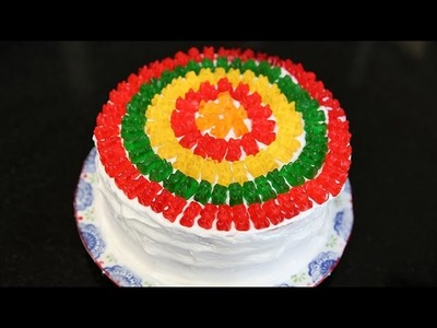 How to Make a Rainbow Gummy Bear Piñata Cake