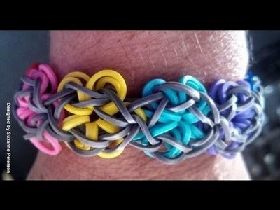 How to Make Loom Bands | Rainbow Loom Bracelet DIY