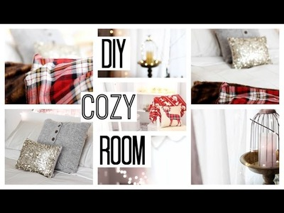 How To Make Your Room Cozy For Winter, Christmas, Holidays + DIY Sweater Pillows