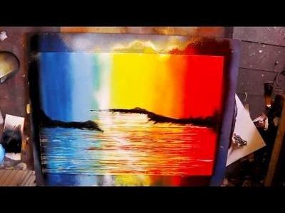 How To Spray Paint Art - 'Rainbow Forest'