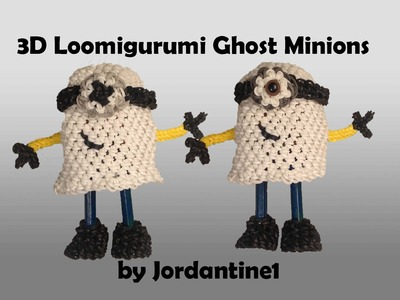 New 3D Ghost Minion - Loomigurumi. Amigurumi - Rainbow Loom - Hook Only - Rubber Band Crochet