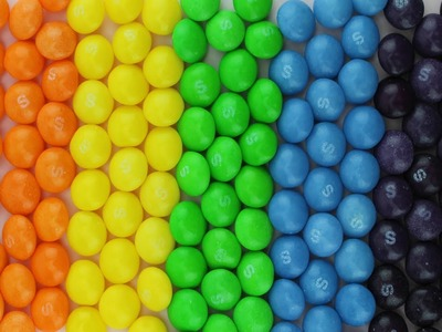 NEW Learning Colors Learn Colours with Candy Skittles Rainbow Learning Colors