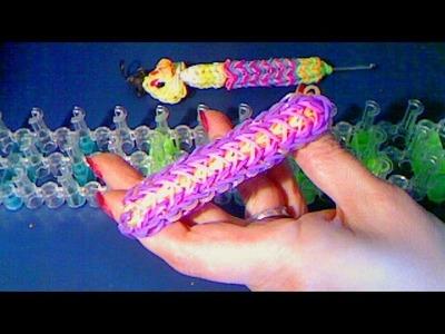 Rainbow loom francais bracelet plume (feather) loom band