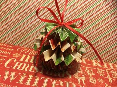 Rosette Paper Christmas Ornament