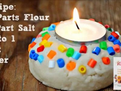Salt Dough Recipe & Easy Votive Project for Diwali or Christmas