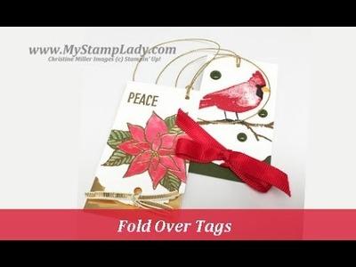 Stampin' Up! Christmas Fold Over Tags