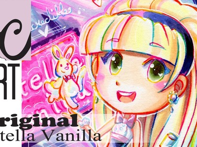 The Incredible Estella Vanilla. Rainbow Line Art (Copic Marker Coloring)