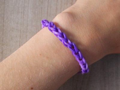 Bracelet Simple Rainbow Loom (Niveau Débutant) Tutoriel Français