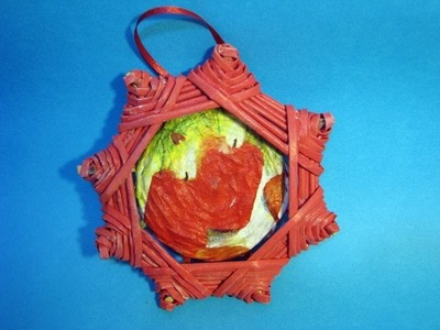 Christmas star  panel picture: Christmas tree decoration, label, candlestick. Part 6.1.