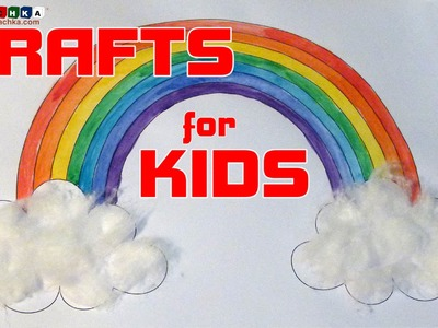 "Creative classes for children ""Crafts from scrap materials"" Rainbow in the clouds."