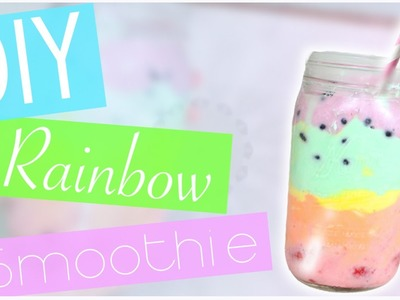 DIY Rainbow Smoothie. Parfait (No blender!) EASY!