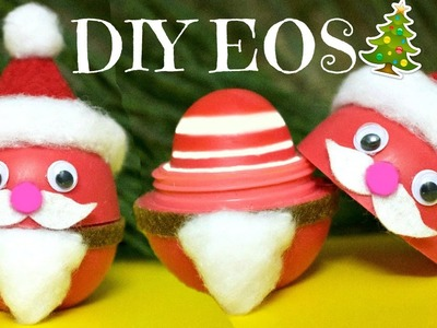 DIY SANTA CLAUS EOS | How to Make EOS Lip Balm | DIY Christmas Gifts EASY