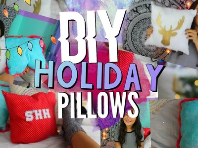 Easy DIY Holiday Pillows to Decorate for Christmas!  | Tumblr Inspired ❀
