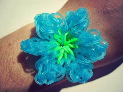 Fun Loom || Rainbow Loom Rubber bands Bracelet Cali Blossom