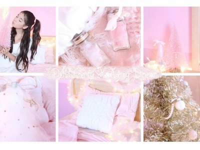 Girly DIY Holiday Room Decor Pink. Vintage