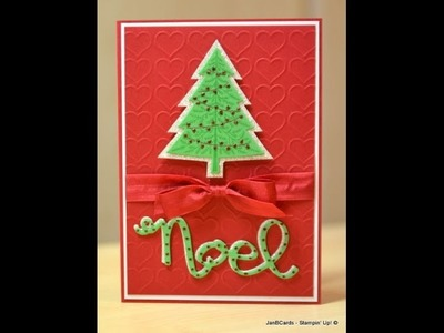 Glimmer Christmas Tree - JanB UK Stampin' Up! Demonstrator Independent