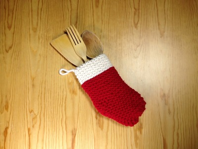 How to Loom Knit a Christmas Sock (DIY Tutorial)