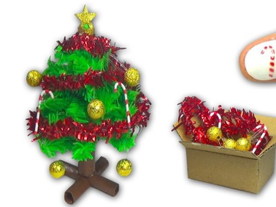 How to make a doll Christmas Tree and Christmas decorations - DIY tutorial - Dollhouse ❤