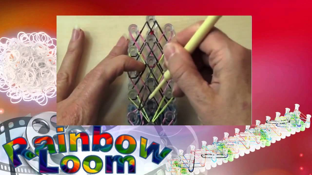 How to Make a Rainbow Loom Small Basket Weave Bracelet