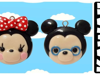 Kawaii Minnie & Mickey | Polymer Clay Charms Tutorial |