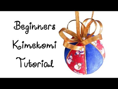 Learn to Make an Easy No Sew Christmas Ornament - Beginners Kimekomi Ornament Tutorial