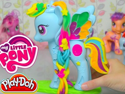 Play doh Rainbow Dash My Little Pony Style Salon 2015 Review and Make - Kids Toys
