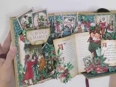 Pop Up Book Box using Graphic 45 Christmas Carol