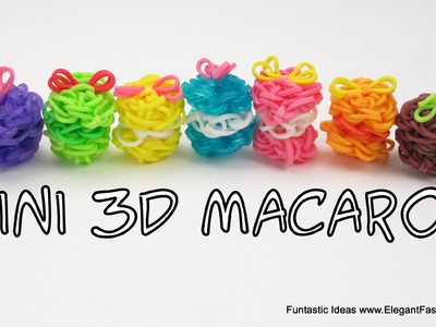 Rainbow Loom 3D Macaron Charms - How to - Food Series
