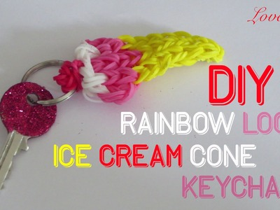 Rainbow Loom Denmark - Ice Cream Cone Keychain (Easy Tutorial)