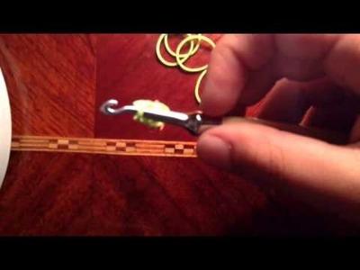 Rainbow loom hook Carrot Charm Easy new2014
