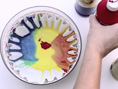 Rainbow Spin Mixing  Science Art