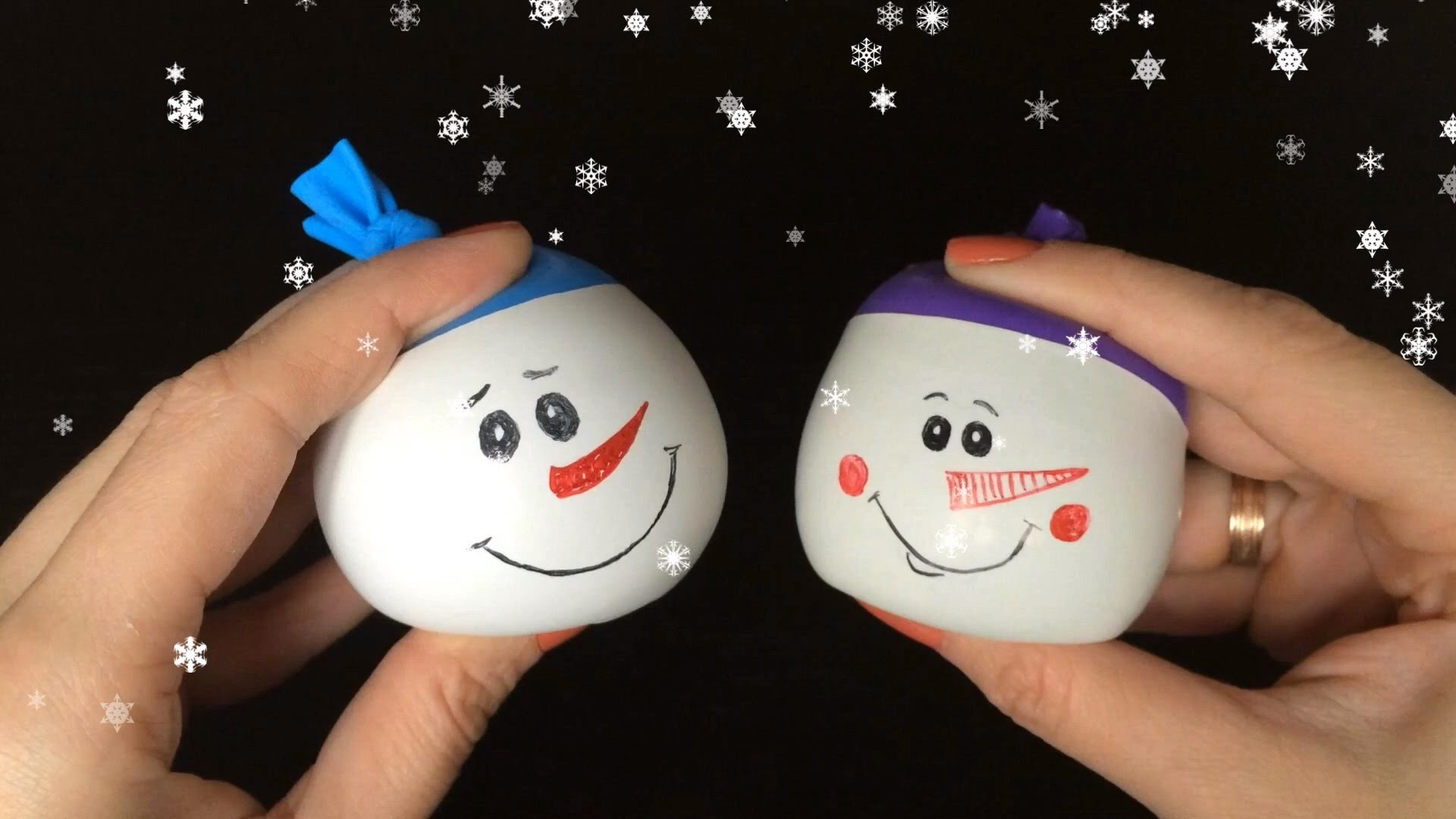 Snowman Ball Anti-stress DIY
