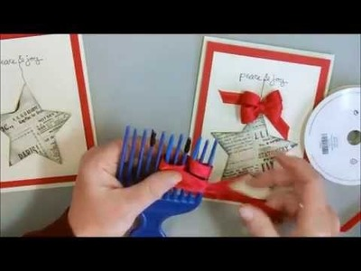 Triple Fork Bow Christmas Star Card with Deb Valder