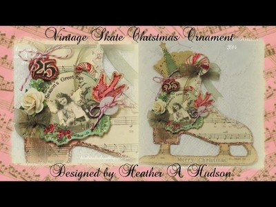 Vintage Ice Skate Christmas Ornament Graphics Fairy