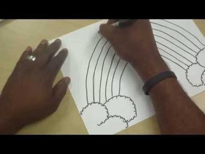 Art Lessons For Kids: Rainbow Paint Party Pt 1