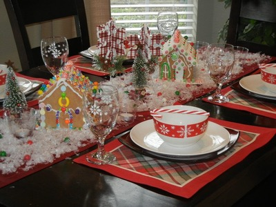 DIY CHRISTMAS Gingerbread Tablescape: CHEAP and EASY!