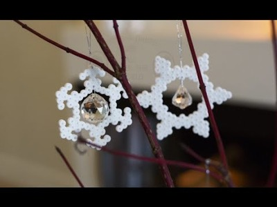 DIY: Ice crystal ornaments by FrkHansen.dk and Søstrene Grene