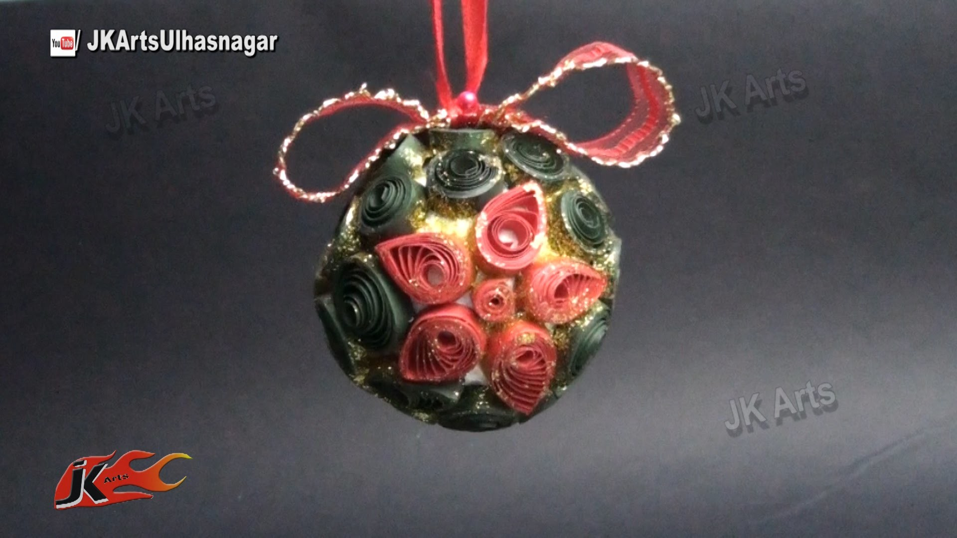 DIY Paper Quilling Christmas ball ornament Decorations | How to make | JK Arts 792