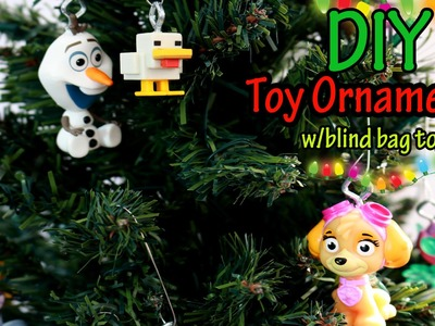 DIY TOY Christmas ornaments using BLIND BAG DUPLICATES