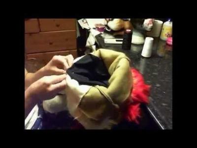 Fursuit Head Tutorial - Time Lapse - Part 7 - Sewing the Neck