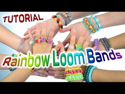 Loom Bands Instructions - How to make a loom bracelet Easy tutorial Rainbow Loom