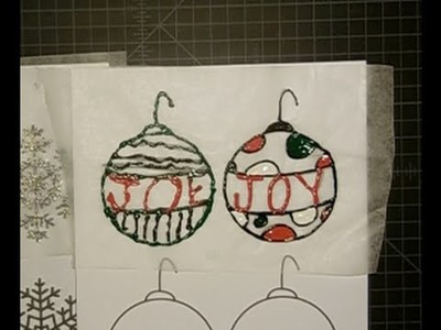 Puffy Paint Cling Ornaments {Fail} | Christmas in July