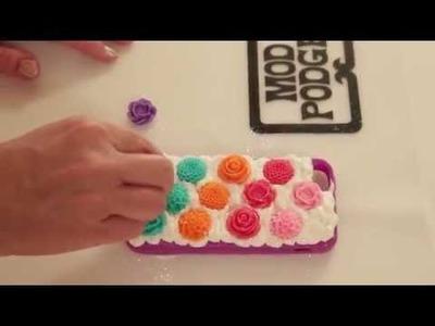 Rainbow Flower Decoden Cell Phone Case