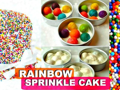 Rainbow Polka Dot Cake | Sprinkle Cake