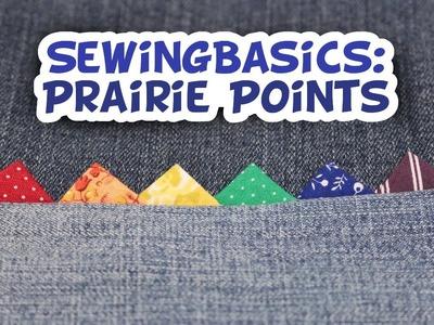 Sewing Basics: Prairie Points - Whitney Sews