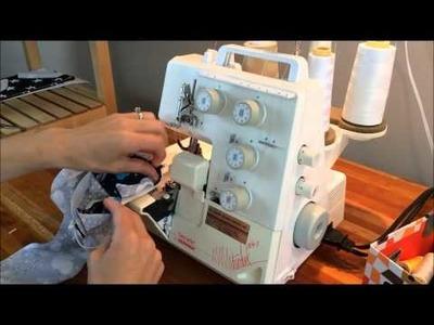 Sewing elastic on leggings waist, Brindille & Twig video