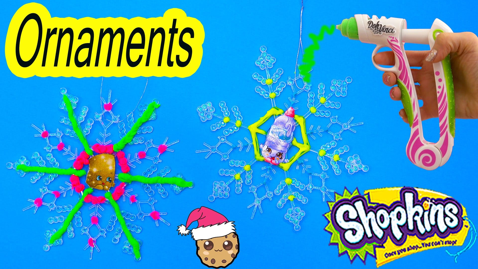 Shopkins DIY Simple Craft Holiday Gifts Snowflakes Ornaments with Dohvinci How To Video