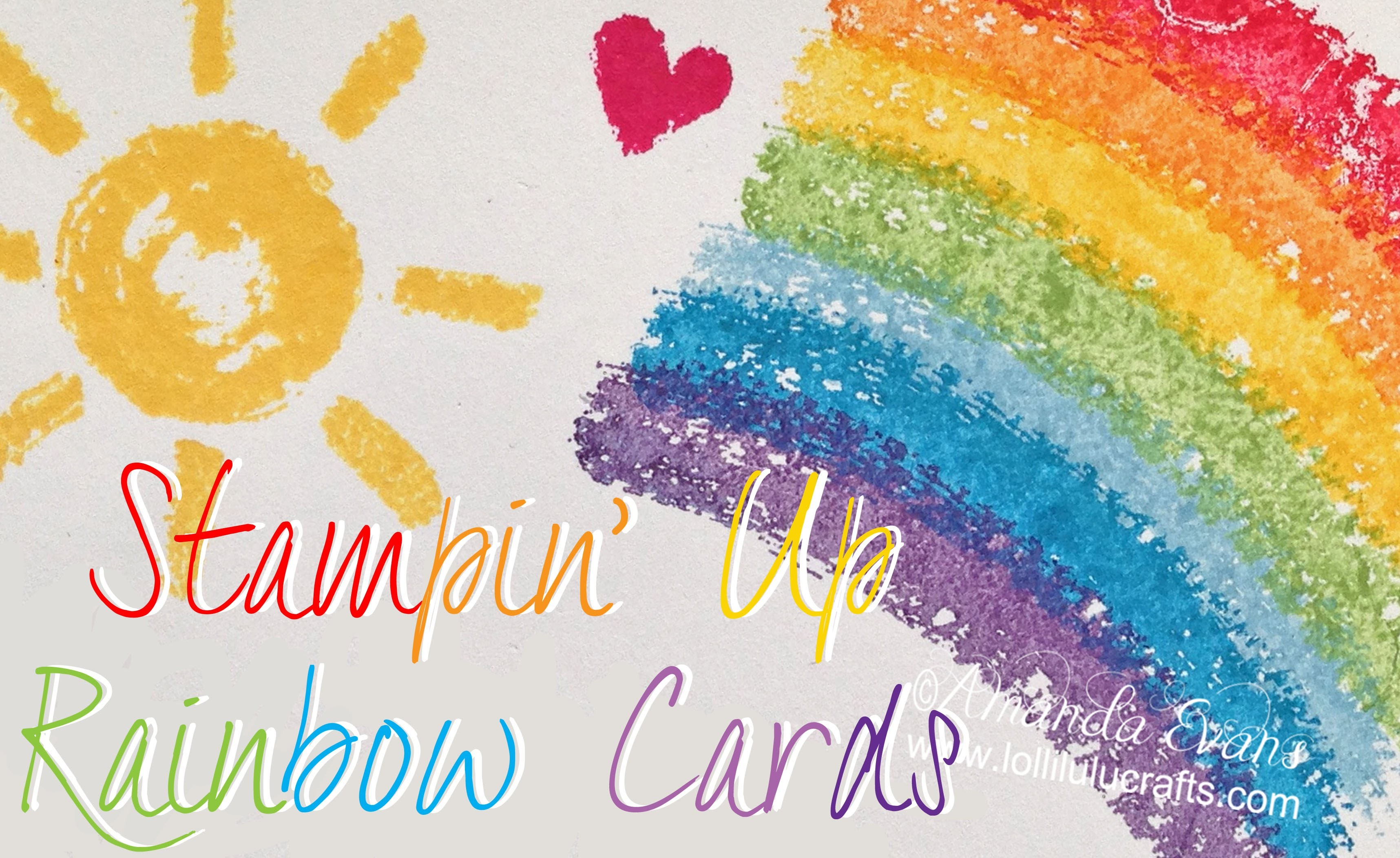 Stampin Up Rainbow Card